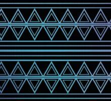 Blue Aztec Pattern Work Sticker