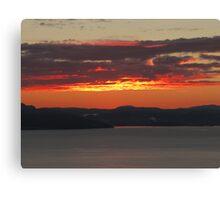 sunset 6:00 AM trondheim airport Canvas Print