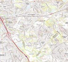 Massachusetts  USGS Historical Topo Map MA Newton 20120613 TM Sticker