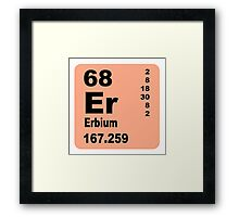 Erbium periodic table of elements Framed Print