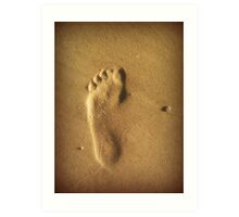 One step at the time Art Print
