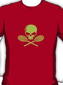 Skull crossed racquets tennis ladies geek funny nerd T-Shirt
