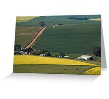 Overberg farmstead Greeting Card