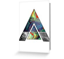 Abstract Geometry: Colorful Psychedelic Oils (White) Greeting Card