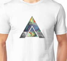 Abstract Geometry: Colorful Psychedelic Oils (White) Unisex T-Shirt