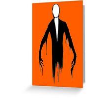 Slenderman slender man creepypasta geek funny nerd Greeting Card