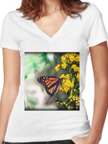 See you next summer! Women's Fitted V-Neck T-Shirt