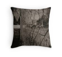 Fences hold you back Throw Pillow