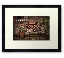Red Bike Story Framed Print