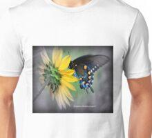 Beautiful butterfly and sunflower Unisex T-Shirt