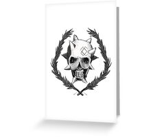 Punk Ass Skull Greeting Card