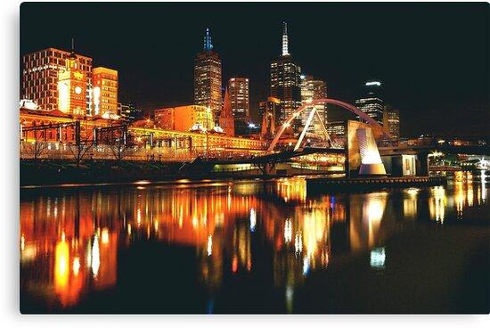 MELBOURNE CITY BY NIGHT by Scott  d'Almeida