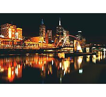 MELBOURNE CITY BY NIGHT Photographic Print