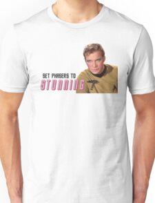 Set Phasers To Stunning Kirk Unisex T-Shirt