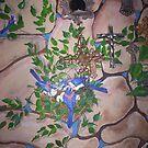 Bird's Nest Bedroom Mural by redqueenself