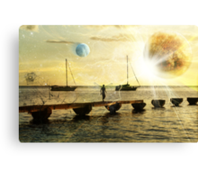 The evolution of love and planets  Canvas Print