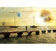 The evolution of love and planets  Photographic Print