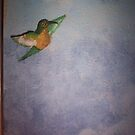 Hummingbird Bedroom Mural by redqueenself