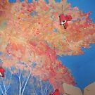 Autumn Leaves Ceiling Mural by redqueenself