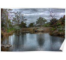 The Pond - Mannum Falls, Riverland, South Australia Poster