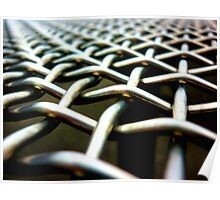 chain-link Poster