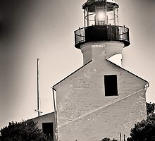 Cabrillo Light House Black and White by HeavenOnEarth