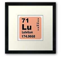 Lutetium periodic table of elements Framed Print
