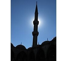 A minaret of Blue Mosque Photographic Print