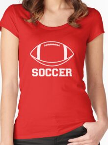 FOOTBALL (SOCCER) Women's Fitted Scoop T-Shirt