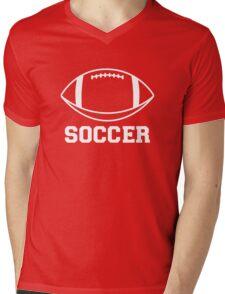 FOOTBALL (SOCCER) Mens V-Neck T-Shirt