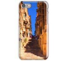 Valletta stairs iPhone Case/Skin
