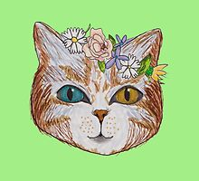 Cat in the spring by Eyrycka
