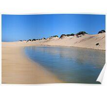 REDHEAD BEACH LAGOON NSW AUSTRALIA Poster