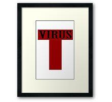 T virus geek funny nerd Framed Print