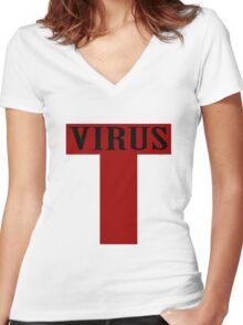 T virus geek funny nerd Women's Fitted V-Neck T-Shirt