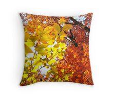 Fire Foliage Throw Pillow