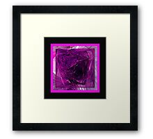 Purple Cube Framed Print