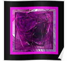 Purple Cube Poster