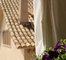 Curtain, roof and flowers by Esther  Moliné