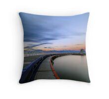 Eastern beach swimming enclosure Throw Pillow