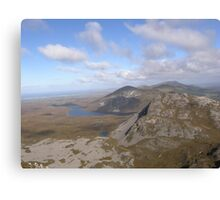 Mountain range view from Errigal Mountain Donegal Ireland Canvas Print