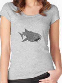 Walhai wal hai whale shark animal geek funny nerd Women's Fitted Scoop T-Shirt