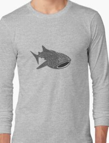 Walhai wal hai whale shark animal geek funny nerd Long Sleeve T-Shirt