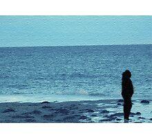 Beachy Blue Silhouette Photographic Print