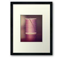 Thread - Light Purple Spool of Sewing Thread Framed Print