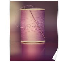 Thread - Light Purple Spool of Sewing Thread Poster
