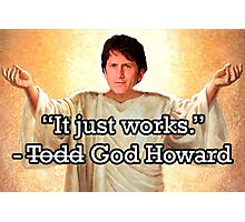 God Howard Photographic Print