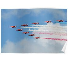 Red Arrows display team Poster