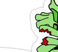 Zombie Worms Sticker