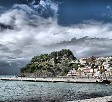 Storm Over Parga by Karen Martin